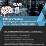 SBB Share Valuation- ohjelmalla teet pörssikurssiennusteen minuutissa